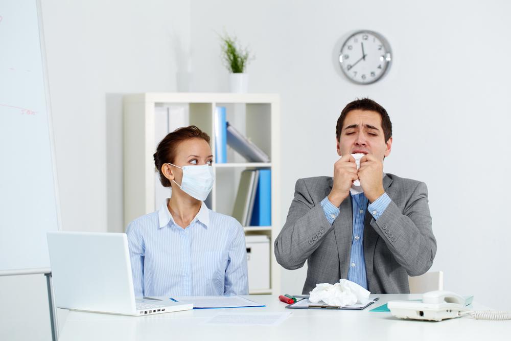 nemocný kolega v práci